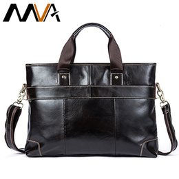 $enCountryForm.capitalKeyWord NZ - MVA Leather Laptop Bag Briefcase Male Genuine Leather Handbags Tote Men Messenger Bags Business Briefcases bag men for documentsMX190905