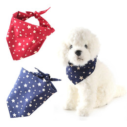 $enCountryForm.capitalKeyWord Australia - Pet Bandana Scarf Dog New Five-pointed Triangular Bibs for Valentine's Day Double Fabric pet Supplies
