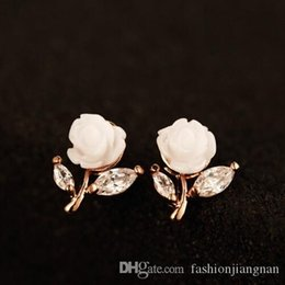 korean zircon accessories UK - Hot Sale Korean Brand Women Earrings New Style Luxury Fashion Zircon Flower Stud Earrings Top Quality 18K Gold Plated Jewelry Accessories