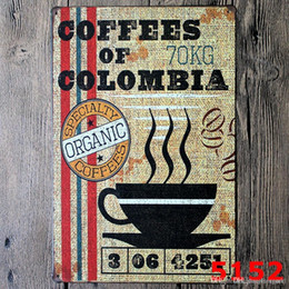paintings coffee Australia - Marki Beer Coffee Vintage Craft Tin Sign Retro Metal Painting Antique Iron Poster Bar Pub Signs Wall Art Sticker(Mixed design) wn571 50pc