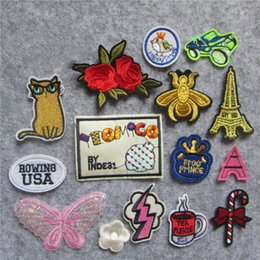 $enCountryForm.capitalKeyWord Australia - fashion Lip Rainbow Patch DIY Small Cheap Embroidered Cute Patches Hippie Iron On Kids Cartoon Patches For Clothes Stickers