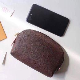 Розовый sugao макияж сумка натуральная кожа 2020 Новая косметичка клатч кошелек дорожная сумка дизайнерские сумки печать письмо с серийным номером коробки на Распродаже