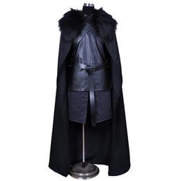 Watch Man Movie Australia - Game of Thrones Nights Watch Jon Snow Cosplay Costume Men Outfit Suit Vest Skirt Cloak Belt Halloween Costumes plus size xxs-xxxl
