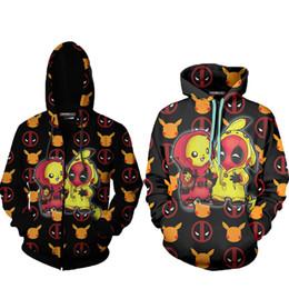 $enCountryForm.capitalKeyWord Australia - Deadpool Costume Clothes Deadpool Sweatshirt Hoodie Cosplay Costumes Mens Zipper Hoodies Kids Cute Things