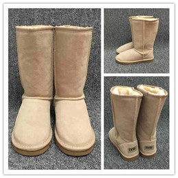 Long boot Laces online shopping - Hot sales designer Women Snow Boots Classic Style Cow Suede Leather Waterproof Winter Warm Knee high Long Boots Brand Ivg Plus Size US3