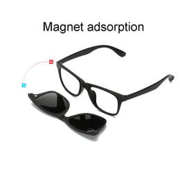 1b8efa086b5 Magnet eyeglasses Clip Mirrored Clip on Sunglasses men women Driver glasses  Polarized Men sunglasses Lens with clear glasses Frame