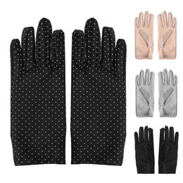 $enCountryForm.capitalKeyWord Australia - KLV Female Women Summer Cotton Short Gloves Design Sun-shading Slip-resistant Gloves