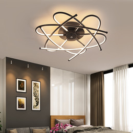 Rooms painted black online shopping - Matte Grey Black Modern Led Ceiling Lights For Living Room Bedroom Study Room AC110V V RC Dimmable Ceiling Lamp