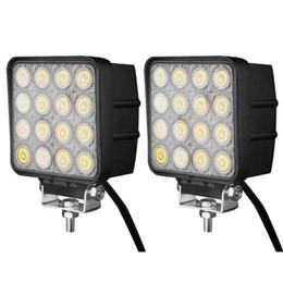 48W 16LED * 3W LED luz de trabalho 4,5 polegadas Flood ponto do feixe LED Car Light Para Off Road LED uso de trabalho Luzes para caminhões em Promoção