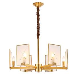 $enCountryForm.capitalKeyWord UK - All copper LED square glass chandelier designer Nordic living room dining room bedroom chandelier glass crystals for chandeliers