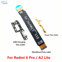 mainboard flex cable NZ - Power Volume & USB Charging Dock Flex Cable & Motherboard MainBoard Connections Flex Cable For Xiaomi Redmi 6 Pro Mi A2 Lite