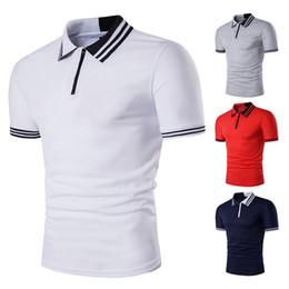 $enCountryForm.capitalKeyWord Australia - Wholesale New Men's Solid Short Sleeve Polo Shirts Summer Heat Sale England Classic Men Casual Slim Fit Polo T-Shirts Basic Designed Tees