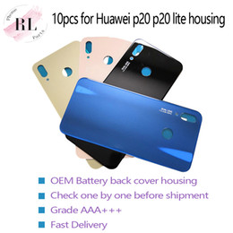 $enCountryForm.capitalKeyWord Australia - 10PCS OEM for Huawei P20 P20 Lite Nova 3e Back Battery Housing Cover Replacement Back Door Cover Case with Adhesive Sticker