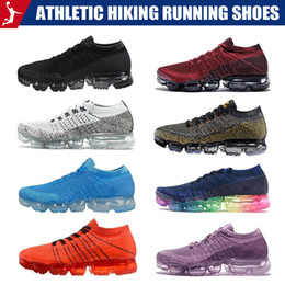mens golf fashion 2019 - Athletic Breathable shoes Hiking Running Shoes Mens Designer Knitting Resistant Sports Shoes GYM trainer fashion sports