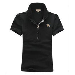$enCountryForm.capitalKeyWord NZ - Womens Summer Polo Tshirt Classic Short Sleeve Fashion Brand Polo Shirt for Women Hot Sale Solid Color Polo Tee 5 Color S-XXL