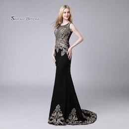 Wedding Beaded Prom Graduation Dresses Australia - Black Crystal Mermaid Black Beaded Prom Party Dress 2019 Sexy Elegant Beading Vestidos De Festa Evening Wear Formal Occasion Gown LX525