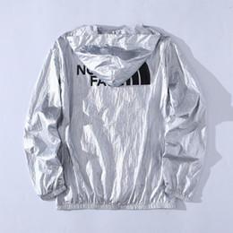 Nylon Coating Australia - Mens jackets European American style designer sports retro hoodie high quality metal nylon soft zipper access logo printing outdoor coat