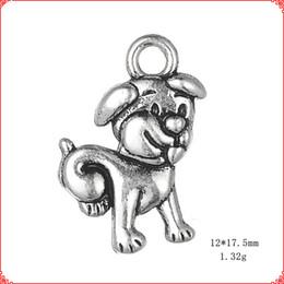 $enCountryForm.capitalKeyWord Australia - 30pcs Antique vintage Tibetan silver cat dog puppy pet charms metal dangle alloy pendants for necklace bracelet earring diy jewelry making