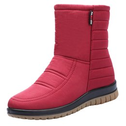 old snow boots NZ - Snow Boots Women's Middle Tube Waterproof Antiskid Cow Tendon Bottom Thickened Warm Middle-aged Old Mothers' Cotton Shoe 36-41