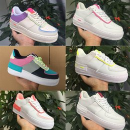 Discount candy casual shoes New Cream Women Girls Candy Macaron Running Shoes 1 Shadow Tropical Twist Sport Casual Shoes One Skateboard Sneakers