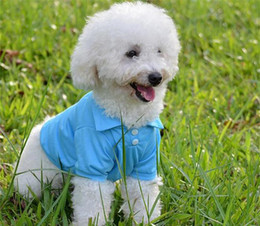 Wholesale Spring Summer Clothes Australia - 50pcs Dog Polo Shirts For Spring Summer Colorful Pet Clothes Poromeric Material For Small Baby Pet