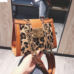 Zebra Chains Australia - Handbag Designer Fashion Women Bags Hardware Lock Sac Leopard zebra Print Chain Shoulder Messenger Bag Tide Crossbody Bag
