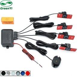 $enCountryForm.capitalKeyWord Australia - GreenYi 16mm Flat Sensors Car Parking Sensor Assistance Auto Reverse Backup Radar Alarm System + Sound Alert Indicator 6 Colors