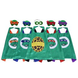 Top halloween cosTumes for kids online shopping - Cute Superhero Cape with Mask for Kids Double Layer Top Quality Movie Cartoon Costumes Party Favors Halloween Christmas Birthday Gifts