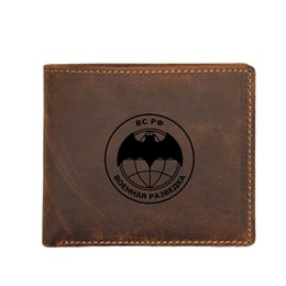 $enCountryForm.capitalKeyWord NZ - Russian Scout Army Mens Small Wallet Custom Name Purse Gifts RFID Blocking Card Wallets Coin Pocket Brown Leather Purse Male