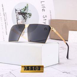 Glasses Sun Protection Australia - New design luxury Glass Polarized Sunglasses Top Quality Master Men woman Sun Glasses Semi Rimless Retro UV Protection Sunglass