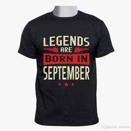 hipster clothes UK - 2018 Short Sleeve Cotton T Shirts Man Clothing Legends Are Born in September Custom Men Tshirt size S-3XLShort Sleeve Hipster