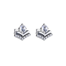 Wish Earrings Australia - Original 100% 925 Sterling Silver Stud Earring With CZ Fashion Classic Wishes Earring For Women Anniverary Jewelry