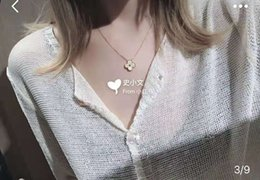 $enCountryForm.capitalKeyWord Australia - 2019 Luxury designer jewelry necklace and chain clavicle chain clover pendant 925 necklace couple dogevil eyestatement arabic name tennis