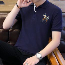 $enCountryForm.capitalKeyWord NZ - Mens Short Sleeve Tshirt Summer 2019 Ice Silk Trend Handsome Cotton Polo Shirt Mens Turncollar Leisure Advertising Shirt Crossborder