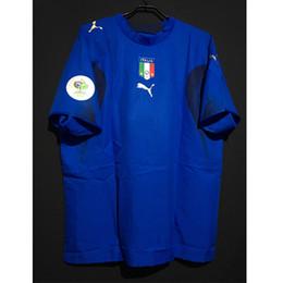 $enCountryForm.capitalKeyWord NZ - Retro World Cup 2006 Italy Soccer Jerseys Totti Pirlo Inzaghi Del Piero Vintage Futbol Camisa Italia Football Camisetas Classic Shirt Kit