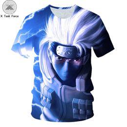 ed8ed9e04 Naruto T Shirt Men Anime Tshirt Hip Hop Tee Streetwear Punk Rock Clothes  Blue 3d T-shirt Casual Cool Mens Clothing 2019 New