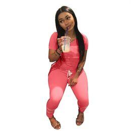 $enCountryForm.capitalKeyWord UK - Womens clothing hoodie outfits 2 piece set tracksuit summer hoodie legging outfits sweatshit tights sport suit klw21