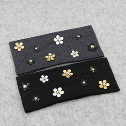 Daisies For Hair Australia - Fashion Solid Women Daisy Floral Cotton Headbands New Spring Summer Thin Soft Stretch Hairbands For Women Girls Hair Accessories