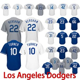 Uniform designs online shopping - The dodgers baseball team embroidered  high quality baseball uniforms Cody Bellinger 0db9716994