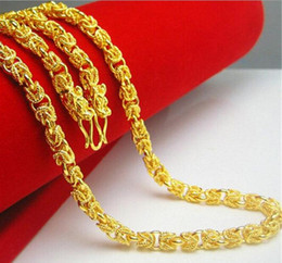 24k indian gold necklaces chain Canada - Necklace Double Dragon Heads Unisex 24K Yellow Gold Filled Men Bones Chain Gift