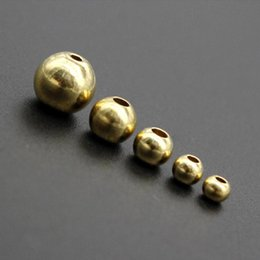 ball suppliers UK - Beads 100pcs Original Brass Round Ball Space Beads 3 4 5mm 6mm Bracelets Loose Charm Bead for DIY Necklace Jewelry Making Supplier