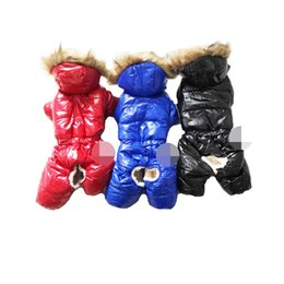 dog clothes xxl winter UK - Hoodies Pet Dogs Jumpsuit Thickening Cotton Puppy Coat Winter Pets Clothes Warm Jacket Outfits S-XXL for cold weather in russia