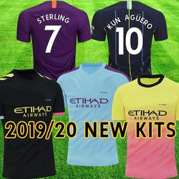 Chinese  2019 2020 Manchester Tops DE BRUYNE MAHREZ G JESUS MENDY soccer jerseys KUN AGUERO football shirt city SILVA SANE Camiseta uniforms manufacturers