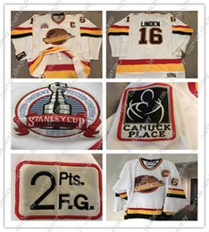Quick Cup Australia - Cheap custom Trevor Linden Vancouver Jersey Stanley Cup 1994 Rare Mens Personalized stitching jerseys