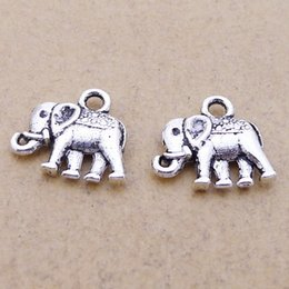 part animals Australia - A4018 Ancient Silver 200  Package Alloy Elephant Ornaments Parts Group Diy Ornaments Parts 0.9 G