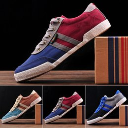 $enCountryForm.capitalKeyWord Australia - Summer and Spring Breathable Men Casual Shoes Low Top Denim Canvas Shoes for Mens Gingham Sneakers for Boys