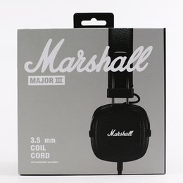 Cell phones bluetooth games online shopping - 2018 NEW Marshall III DJ headset Deep bass game headset Sports Earphone Studio Headsets Wired Earphone Professional for iphone