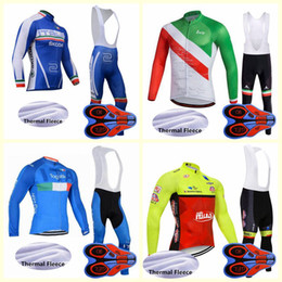 men pants italy Australia - ITALY team Cycling Winter Thermal Fleece jersey bib pants sets 100% Polyeste men Quick-Dry Cycle Clothes U90206