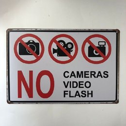 $enCountryForm.capitalKeyWord NZ - No Cameras Video Flash Vintage Tin Poster Decorative Cafe Bar Pub BathRoom Garage Club Hotel Wall Plaque Art Metal Sign