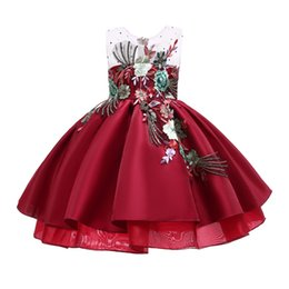 Formal Military Ball Gowns Australia - 2019 Beautiful Flower Rustic Applique Flower Kids Dresses Bow Fluffy Tulle Ball Gown Pageant Dress Wedding Evening